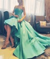 Gorgeous Mint Ball Gown Evening Dresses Ruffles Elegant Formal Dress Sexy Strapless Prom Party DressBackless Evening