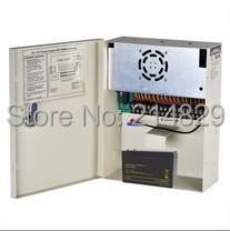 18Channel 12V 20A CCTV Camera Power Supply Box of AUTO-RESET and Support 10Ah Battery Backup(China (Mainland))