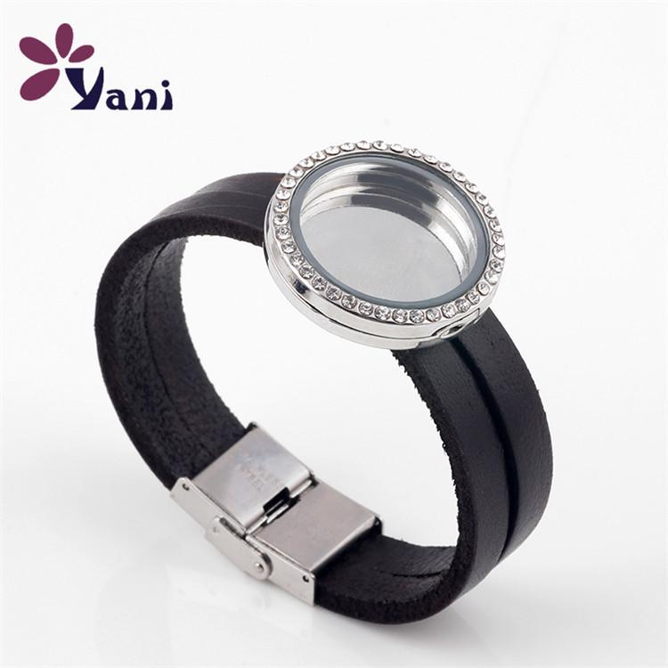 5pcs-lot-Free-Shipping-30mm-Round-Floating-Locket-Bracelet-Leather-Wrap-Glass-Locket-Bracelet-for-Charms