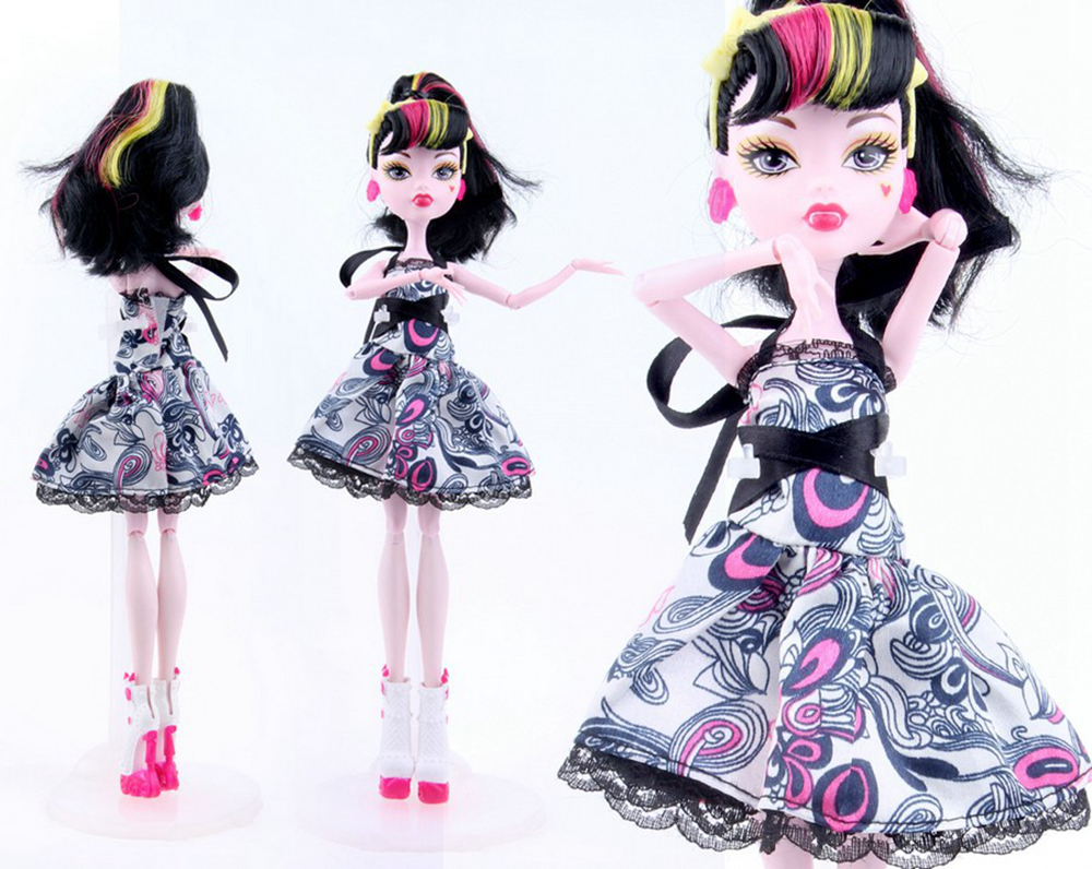 NK 2 Set  New Arrival Handmade Cortical Garments & Sportswear Trend Costume For Monster Excessive Doll  For  BJD Dolls Greatest Reward 02A