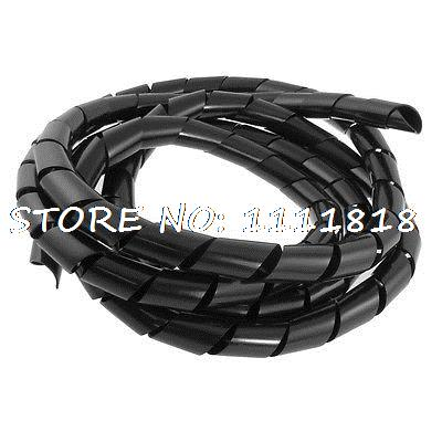 20mm Outside Dia 9.5 Ft Spiral Wire Wrap Desktop PC Manage Cable<br><br>Aliexpress