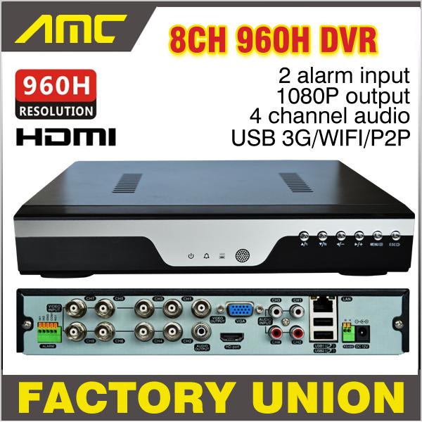 2016 New CCTV 8ch 960h DVR H.264 Recorder 8 Channel Full D1 CH 1080P NVR Network Video Surveillance Camera - Shenzhen Amocam Technology Co., Ltd store
