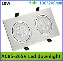High quality 10W LED Ceiling Downlight Light kit Recessed Fixture Lamp Bulb+Driver AC85-265V indoor lighting free shipping(China (Mainland))