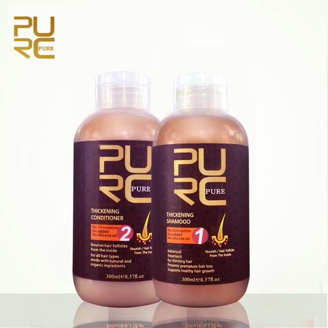 Purc шампунь и кондиционер для роста волос и выпадение волос 300 мл комплект предотвращает преждевременное истончение волос для мужчин и женщин