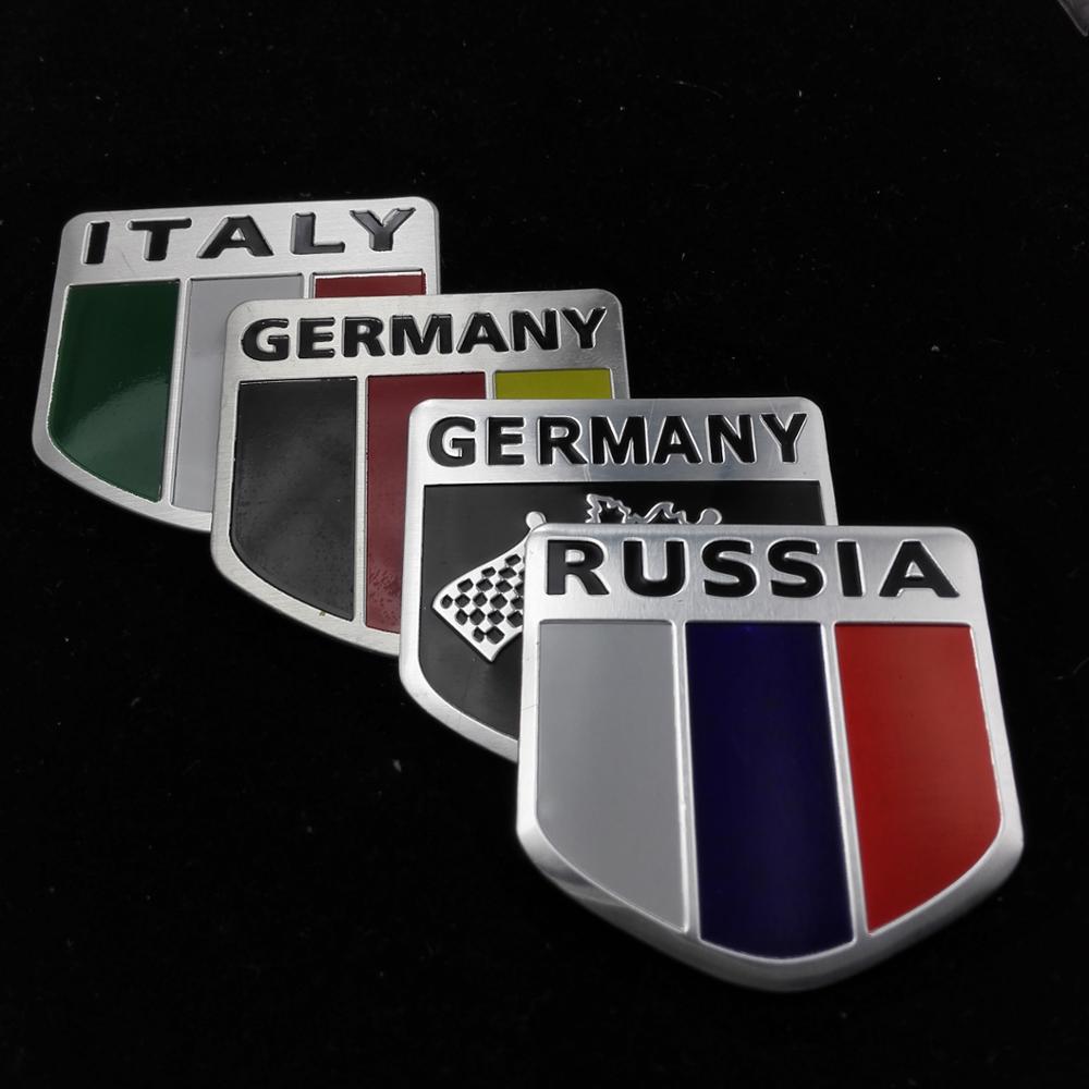 car-styling Car flags aluminum stickers For Toyota/Lada/Seat/Fiat/Skoda/Renault/Opel/Mazda/Hyundai/citroen car-styling(China (Mainland))
