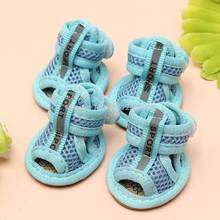 2016 Hot Sale Casual Anti-Slip Small Dog Shoes For Cute Pet Shoes summer Breathable Soft Mesh Sandals Candy Colors 5 Sizes ACL(China (Mainland))