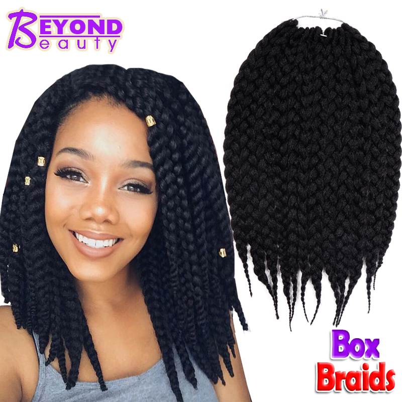 Crochet Hair Rubber : Box Braids Hair Crochet 12 18 Crochet Hair Extensions Syn...