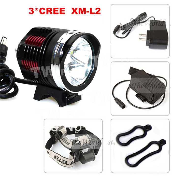 [해외]?/ new Bicycle light 4000Lm 3X CREE XM-L2 LED Fron..