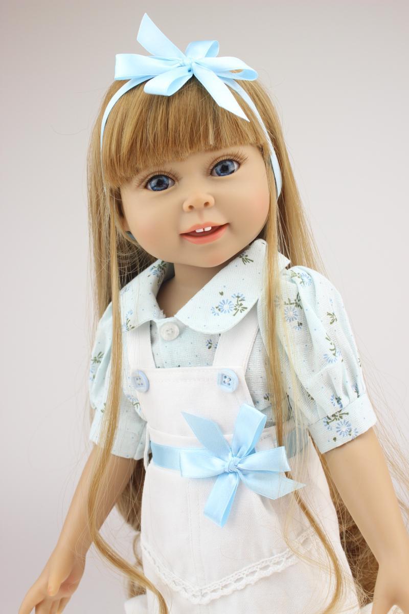 Inch Full Vinyl American Girl Doll Fashion Girl Doll Toy - American girl doll hairstyle ideas