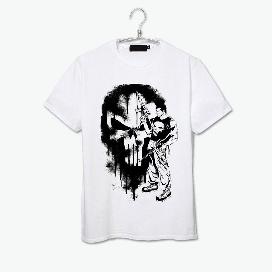 sin city killer punisher batman gotham comics hero cartoon fashion t shirt men women size