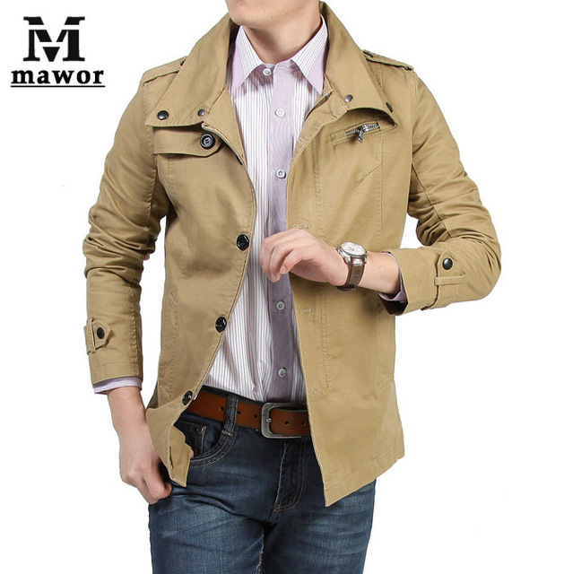 casual fashion clothes men thin coat jacket slim outerwear