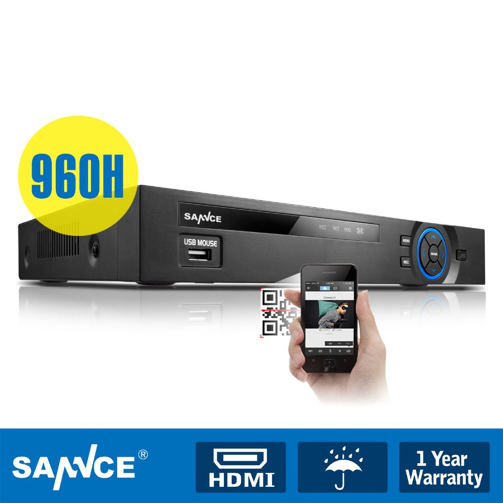 SANNCE 4 Channel 960H HDMI Digital Video Record Security DVR System CCTV Camera - official store