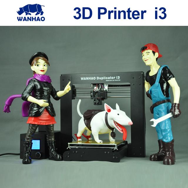 2015 Обновлен Качество Высокая Точность wanhao Prusa i3 V2 DIY 3d Принтер комплект с ЖК-ДИСПЛЕЕМ и бесплатными нитей