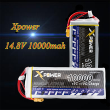 X power RC Drone Batteria 14.8V Lipo XT60 T EC5 Plug 10000mah 30C Max 35C Lithium Battery For DJI S800 Drones Helicopters Robot