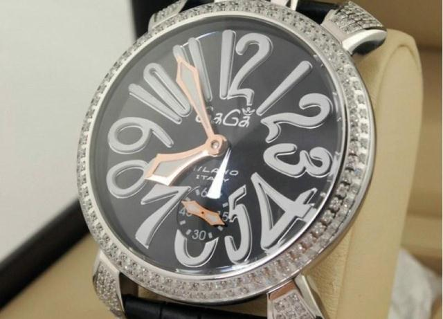 Watch diamond gaga milano strap mechanical big dial watch 9g 1 - Rabbit Queen hair store