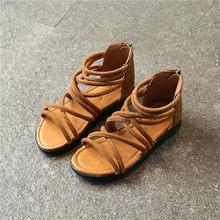 JGSHOWKITO קטן בנות גלדיאטור סנדלי ילדה קיץ נעלי תינוק נסיכת נעלי ילדים גלדיאטור סנדלי Zip פעוט ילדים סנדלי(China)