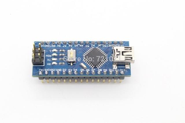 Бесплатная доставка, 1 шт. NANO контроллера 3.0 совместимый с нано-приемником CH340 USB драйвер без кабеля для Arduino NANO V3.0