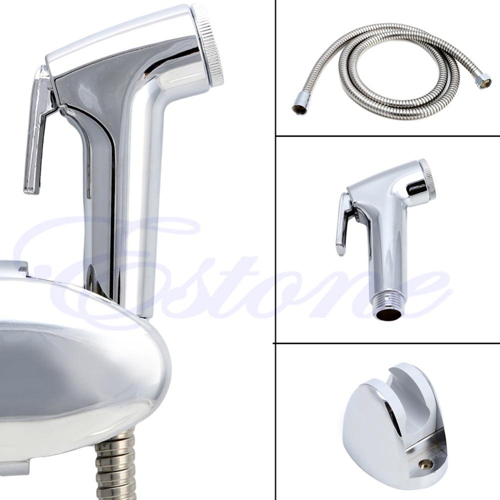Bidet Toilet Handheld Shattaf Adapter Kit Sprayer Shower Head Wall Bracket Set(China (Mainland))
