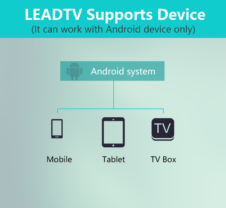 LEADTV support device