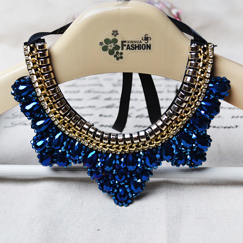 New Arrival Handmade False Collar Necklace Fashion Crystal Beads Charm Choker Necklace