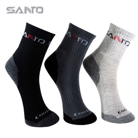 Santo Quick-dry Breathable Mountain Bike Bicycle Sock Coolmax Cotton Men Cycling Socks Racing Sport Running Footwear Size(39-44) - Simfine store