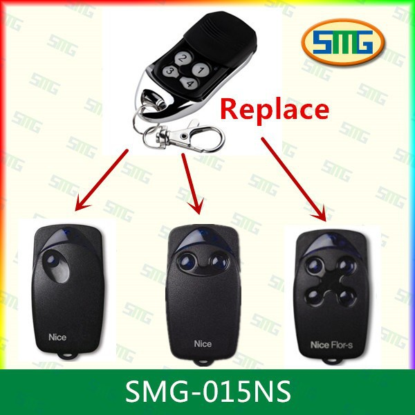 Nice FLOR-S / ONE Replacement Remote Control Transmitter Gate Key Fob New 433mhz(China (Mainland))