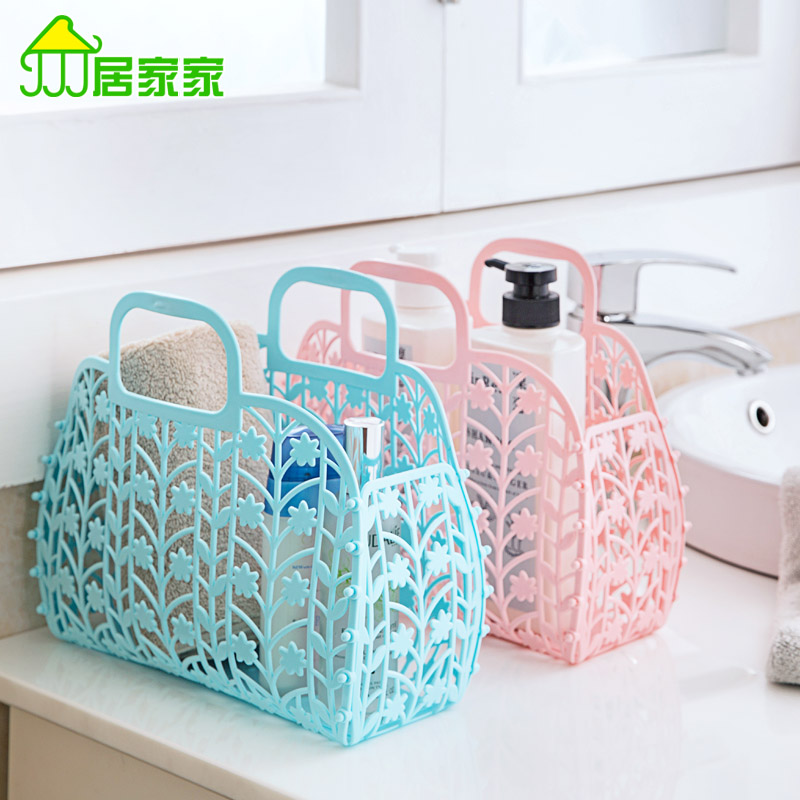 Buy Bathroom Wash Hollow Storage Baskets