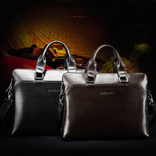 (flowers-mb 02) men business bag briefcase leather black brown brown luxury leather men business bags(China (Mainland))