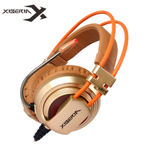 Buy Best Computer Gaming Headset Headband Microphone Mic XIBERIA V10 Heavy Bass Stereo Game Headphone Light PC Gamer for $23.99 in AliExpress store