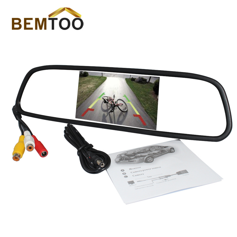 5 Inch 800*480 Car Hd Display Rear View Mirror Monitor 2ch Video Input Parking Assistance ,  -  BemToo store