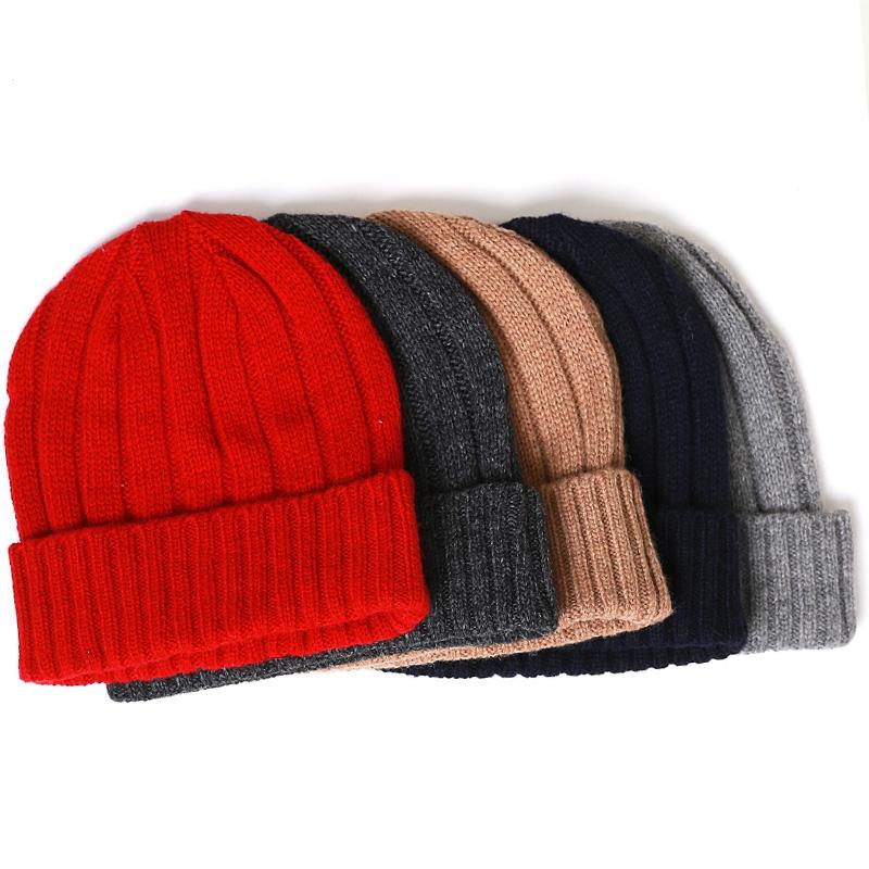 Vancol 2016 Men Beanie Winter Knitted Hats Cap Skullies Black Grey Blue Wholesale Cheap Gorro Touca Beanies for Men(China (Mainland))