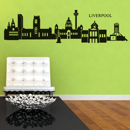 Carved(not print) wall decor decals home stickers art PVC vinyl Liverpool L-139 - Wall Art Stickers store