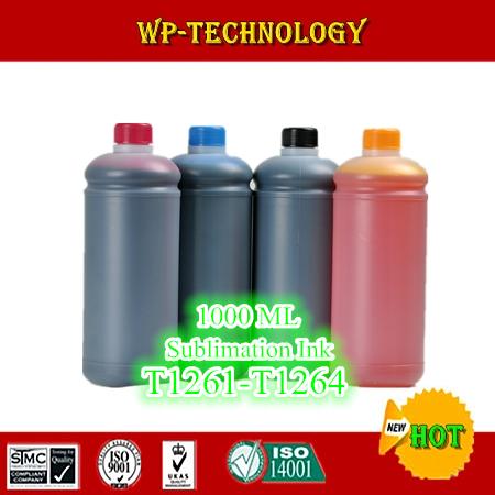 1L*4 pcs Sublimation ink suit for Epson  Workforce 630 WF633 WF635 WF840  etc , suit for T1261 -T1264 , 4L Total