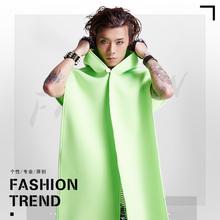 Новый Корейский пространство хлопка пальто певец DJ флуоресцентный зеленый одежда бар ночной клуб моды мужские костюмы танцор звезды показать(China (Mainland))