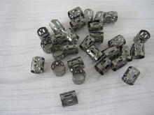 100 Black Dreadlock Beads Adjustable Hair Braid Cuff Clip 8mm Hole(China (Mainland))
