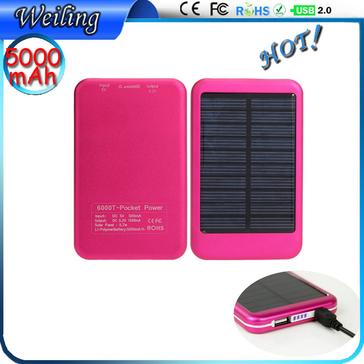 OEM Aluminum solar power bank supplier 5000mah Gmate Power Bank Quality Reliable Power Bank for iphone/smartphone/ipad(China (Mainland))