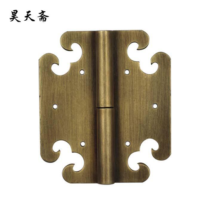 [Haotian vegetarian] Chinese furniture copper fittings / long 9cm wishful hinge / bookcase hinge HTF-082<br><br>Aliexpress