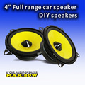 High quality 4inch full range bass car stereo speakers with yellow cone sponge edge high sensitivity