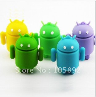 Freeshipping 10pcs /lot 4GB-16GB Android usb  ,cartoon disk ,animal pendrive with metal box package