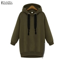 New Arrival 2016 Autumn Zanzea Womens Long Sleeve Hooded Loose Casual Warm Hoodies Sweatshirt 3 Colors