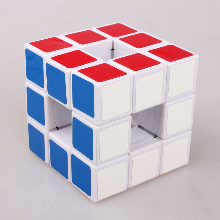 New- HOT Lanlan Magic Cube 3x3x3 Void Puzzle Cubo Hollow White Speed Spring Twist Original Toys Kids Learning Gifts Toy(China (Mainland))