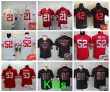 Kids signature 49ers,Carlos Hyde Jarryd Hayne NaVorro Bowman Eric Reid Anquan Boldin Joe Montana Patrick Willis Vernon Davis(China (Mainland))