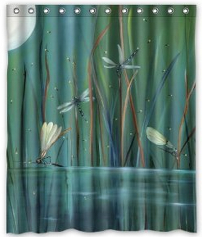 Free Shipping Some Dragonfly Shower Curtain Bath Curtain High Quality Of Shower Curtain 60 X 72