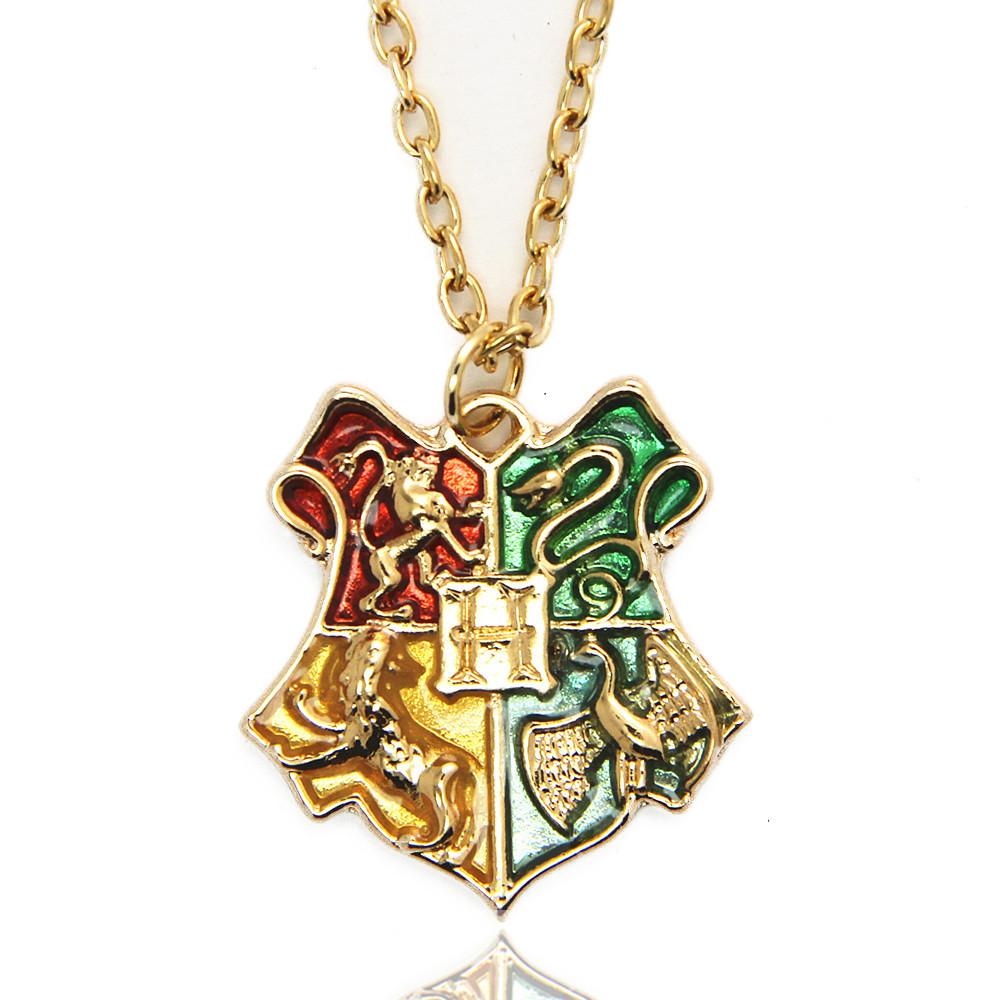 Harry Potter Necklace Hogwarts School Badge Harry Potter Pendant Necklace(China (Mainland))