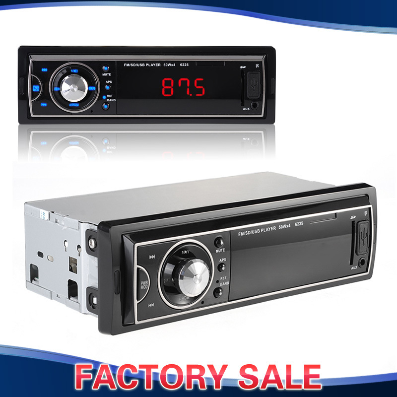 In-Dash Car Vehicle Stereo FM Radio MP3 Player Radio Receiver with USB/AUX Input, SD Card Slot, LED Display and Remote Control