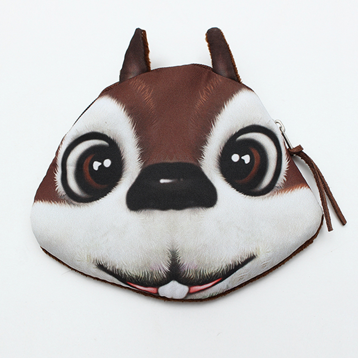 Women Cute Coin Case Squirrel Hamster Animal Prints Face Purse Zipper Small Wallet Lovely Makeup Handbag Hot Storage Kids Pouch(China (Mainland))