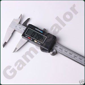 "6"" 150 mm Digital Vernier Caliper Micrometer Guage Widescreen Electronic Accurately Measuring Stainless Steel Free Shipping"