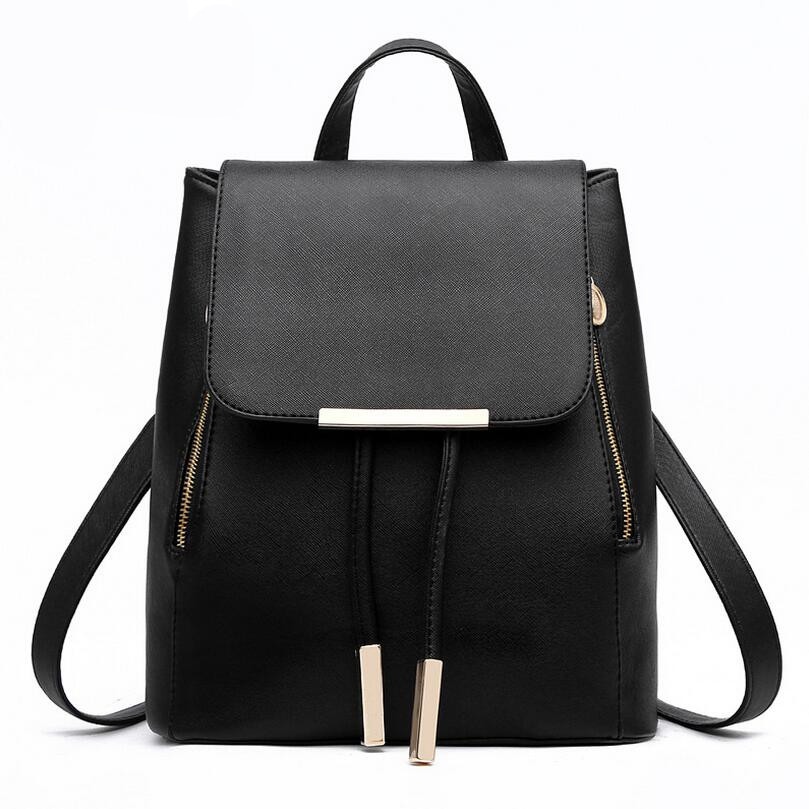 2016 Korean Fashion School Backpacks for Teenage Girls Women High Quality PU Leather Drawstring Backpack Mochila<br><br>Aliexpress