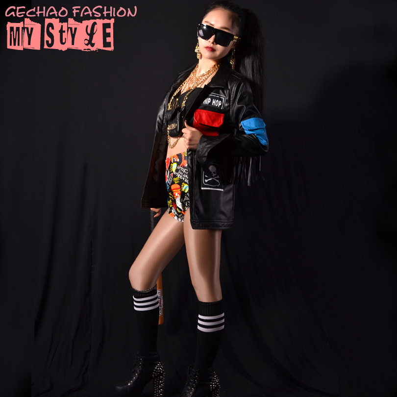 pu black leather jacket coat outerwear