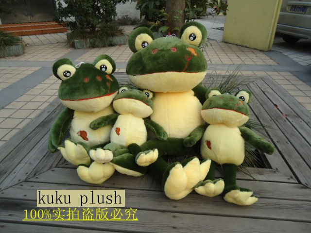 120cm Wholesale and retails frog plush toys soft stuffed toys factory supply freeshipping(China (Mainland))
